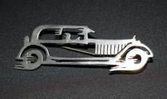 Futurist Car Brooch Streamlined Automobile Pin - 1809141