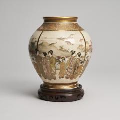 Fuzan Ryun An interesting Japanese Meiji Period Satsuma vase signed Fuzan Ryun - 1368863