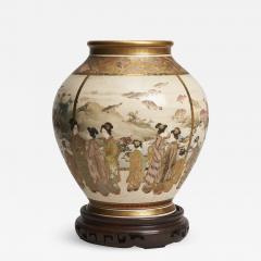 Fuzan Ryun An interesting Japanese Meiji Period Satsuma vase signed Fuzan Ryun - 1369949
