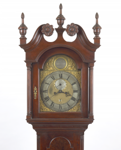 Walnut Tall Case Clock with Eight Day Movement - 10753