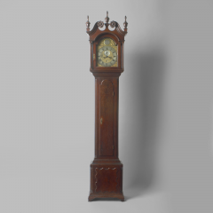 Walnut Tall Case Clock with Eight Day Movement - 10752