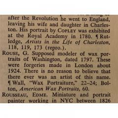 G Rouse General George Washington Wax Portrait Shadow Box Framed Display - 1172464