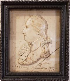 G Rouse General George Washington Wax Portrait Shadow Box Framed Display - 1172465