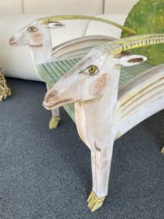 G rard Rigot Antelope Armchair Painted Wood by G rard Rigot France 1980s - 2121245