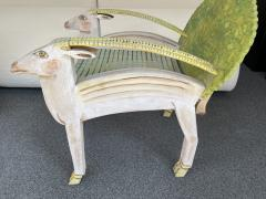 G rard Rigot Antelope Armchair Painted Wood by G rard Rigot France 1980s - 2121251