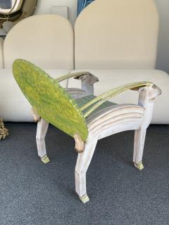 G rard Rigot Antelope Armchair Painted Wood by G rard Rigot France 1980s - 2121252