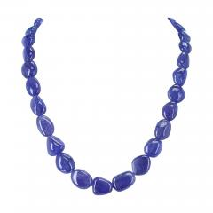 GENUINE NATURAL FINE TANZANITE TUMBLED BEADS - 1895311