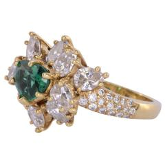 GIA Certified 0 90 Carat Emerald and Diamond 18K Gold Ring - 2043794