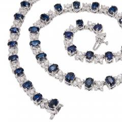 GIA Certified 23 45 Carat Sapphire Diamond Gold Necklace - 389249