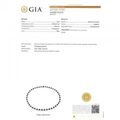 GIA Certified 23 45 Carat Sapphire Diamond Gold Necklace - 389251