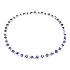 GIA Certified 23 45 Carat Sapphire Diamond Gold Necklace - 389598