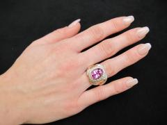 GIA Certified 7 08 Carat Pink Sapphire And Diamond Ring - 1100265