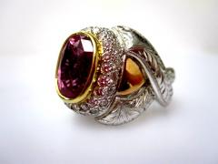 GIA Certified 7 08 Carat Pink Sapphire And Diamond Ring - 1100284