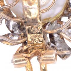 GIA Certified Baroque South Seas Pearl Clip Earrings - 1953780