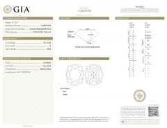 GIA Certified Cushion Diamond Stud Earring in 14K White Gold E VVS2 VS2 2 03 CTW - 1653844