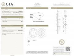 GIA Certified Cushion Diamond Stud Earring in 14K White Gold E VVS2 VS2 2 03 CTW - 1653845