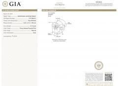 GIA Certified Fancy Intense Pink Pear Shape Bezel Necklace I1 clarity 0 17 Ct - 1653834