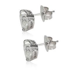 GIA Certified Heart Shaped Diamond Stud Earring 14KT Gold F I VVS2 SI1 4 01 CTW - 1658600