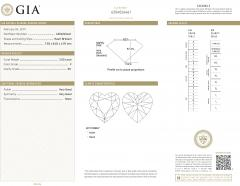 GIA Certified Heart Shaped Diamond Stud Earring 14KT Gold F I VVS2 SI1 4 01 CTW - 1658607