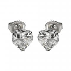 GIA Certified Heart Shaped Diamond Stud Earring 14KT Gold F I VVS2 SI1 4 01 CTW - 1659432