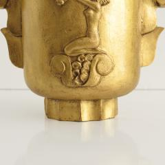 GILT SWEDISH ART DECO CAST IRON URN WITH HANDLES - 2038136