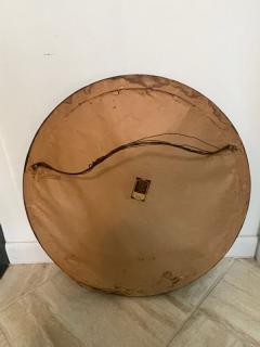 GLAMOROUS ROUND SILVERED GOLD WOOD ART DECO GLASS BALL MIRROR - 2122993