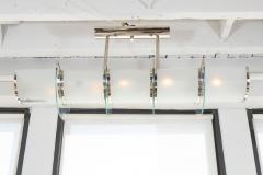 GLASS AND NICKEL HIGH ART DECO LIGHT FIXTURE - 1614189