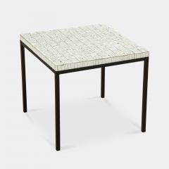 GLASS TILE TOP TABLE ON IRON BASE - 1897566
