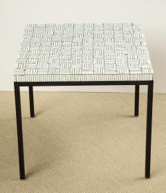 GLASS TILE TOP TABLE ON IRON BASE - 1897567