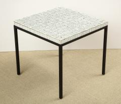 GLASS TILE TOP TABLE ON IRON BASE - 1897568