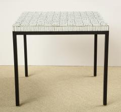 GLASS TILE TOP TABLE ON IRON BASE - 1897569