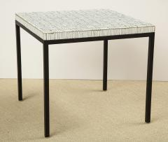 GLASS TILE TOP TABLE ON IRON BASE - 1897570