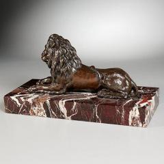 GRAND TOUR PERIOD BRONZE SCULPTURE OF A LION - 1911415