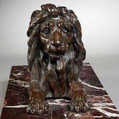 GRAND TOUR PERIOD BRONZE SCULPTURE OF A LION - 1911420