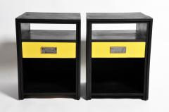 GTC2 Pair of Campaign Bedside Chests by The Golden Triangle Chicago - 1088305