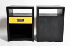 GTC2 Pair of Campaign Bedside Chests by The Golden Triangle Chicago - 1088307