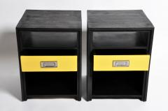 GTC2 Pair of Campaign Bedside Chests by The Golden Triangle Chicago - 1088308