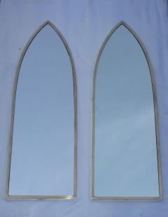 Gabriella Crespi 1950s Solid Brass Italian Arched Mirrors Gabriela Crespi Style - 1355294
