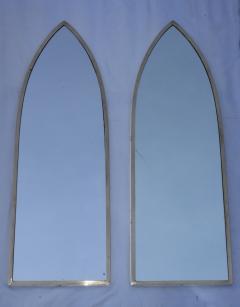 Gabriella Crespi 1950s Solid Brass Italian Arched Mirrors Gabriela Crespi Style - 1355303