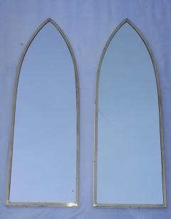 Gabriella Crespi 1950s Solid Brass Italian Arched Mirrors Gabriela Crespi Style - 1355304