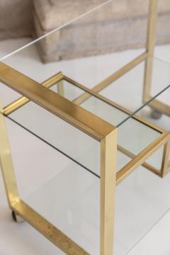 Gabriella Crespi Brass and Glass Bar Cart - 1451136