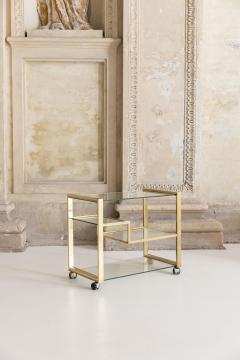 Gabriella Crespi Brass and Glass Bar Cart - 1451138