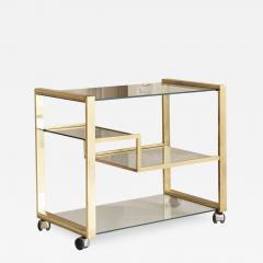 Gabriella Crespi Brass and Glass Bar Cart - 1451840