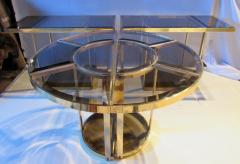 Gabriella Crespi Bronze and Glass Sectional Dining Table Gabriella Crespi Style Italy 1970s - 579600