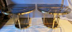 Gabriella Crespi Bronze and Glass Sectional Dining Table Gabriella Crespi Style Italy 1970s - 579602