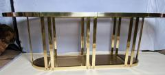 Gabriella Crespi Bronze and Glass Sectional Dining Table Gabriella Crespi Style Italy 1970s - 590969