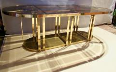 Gabriella Crespi Bronze and Glass Sectional Dining Table Gabriella Crespi Style Italy 1970s - 590970