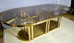 Gabriella Crespi Bronze and Glass Sectional Dining Table Gabriella Crespi Style Italy 1970s - 590971