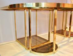 Gabriella Crespi Bronze and Glass Sectional Dining Table Gabriella Crespi Style Italy 1970s - 590972
