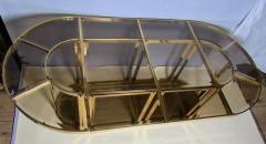 Gabriella Crespi Bronze and Glass Sectional Dining Table Gabriella Crespi Style Italy 1970s - 590974